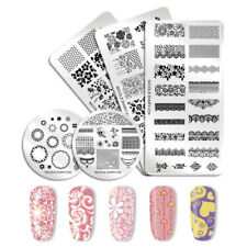 NICOLE DIARY Nail Stamping Plates Valentine's Day Lace  Image Templates