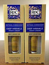 2 RoC RETINOL CORREXION Deep Wrinkle NIGHT Cream 1.1 fl oz (33 ml)