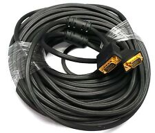 GOLD PLATED 75 FEET SVGA VGA HD15 M/M Male to Male Cable LCD LED Monitor New