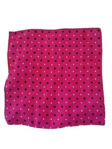 "Pocket Square Diamond Hot Pink Black White 9"" Polyester"