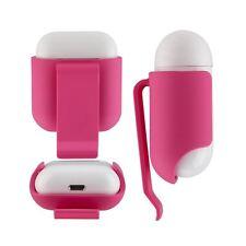 Ceinture Étui Clip Étui Housse pour Apple Airpods Chargement Étui - Rose Rouge