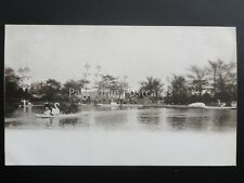 Wolverhampton Exhibition Lake and Swan Boats c1902 UB by Whittick Photographer