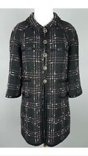 Authentic Black Check Chanel 07P Classic Tweed Doll Jacket Coat 38 RARE Blazer