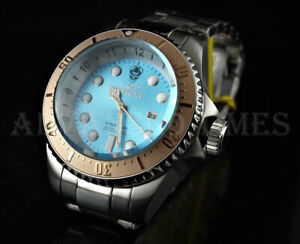 Invicta 52mm SKULL Hydromax Ocean Voyage Limited Edition Aqua Blue Dial SS Watch