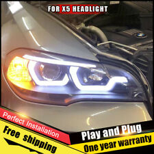 For BMW X5 E70 Headlights assembly Bi-Xenon Lens Double Beam HID KIT 2007-2013