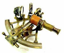 "Antique Nautical vintage Handmade Brass 8"" Sextant Marine Replica Navigational"