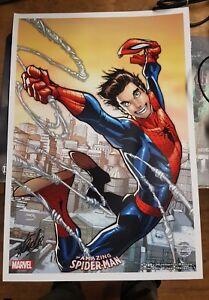 MARVEL STAN LEE SIGNED SPIDER-MAN POSTER with excelcior sticker