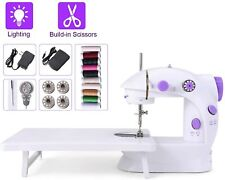 Portable Mini Household Sewing Machine with Extension Table Foot Pedal 2 Speeds