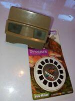 Vintage Sawyer's View Master Brown Tan + slide reels 3D REELS