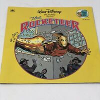 """Vintage Disney """"The Rocketeer"""" Big Golden Book Softcover 1991 Yellow Graphic"""