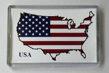 USA Map Flag Fridge Magnet- Free Postage