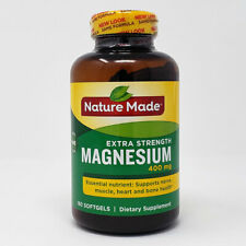 Nature Made Extra Strength MAGNESIUM 400 mg, 180 Softgels - Dietary Supplement