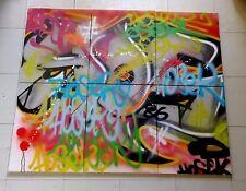 "Hosek "" Vandal "" , Oeuvre Originale en Six Tableaux , Graffiti Art"