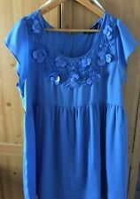 Dorothy Perkins BLUE EMBELLISHED EVENING OCCASION PARTY DRESS SIZE 20