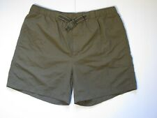 Men Lands' End L Green Lined Quick Dry Stretch Waist Active Shorts Swim Trunks