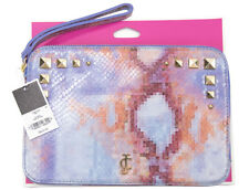 Juicy Couture Purple Pink Pixel Python Leather Zip Tablet iPad Case Sleeve