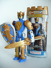 """LEGO Knight's Kingdom King Mathias Blue Gold Knight Castle Container Approx 9"""""""