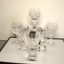 6 Stck. Bleikristall - Sherry-Südwein - Gläser - massiver quadr.Kristallfuß TOP