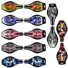 """MAXOfit® Waveboard """"Pro XL"""" mit Leuchtrollen, Tasche, ABEC 7 Kugellager, 86cm"""