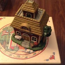 Lang and Wise 1998 Town Hall Collectibles #3 School House with box -Susan Winget