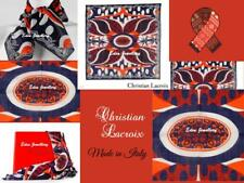AUTHENTIC Christian LaCroix Scarf Made in ITALY 100% Cotton Original Packaging