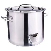 20QT Stainless Steel Stock Pot w/Lid Tamale Steamer Pot Vaporera Divider