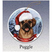 Puggle Howliday Porcelain China Dog Christmas Ornament