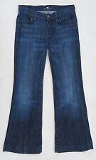 """Femme 7 For All Mankind Bleu Évasé Jeans, US Taille 12 (Small UK 6/8), 25"""" L"""