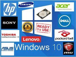 "2.5"" SATA Internal Laptop Hard Drive Disk HDD Windows 10 Loaded"