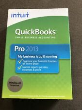 INTUIT QUICKBOOKS PRO 2013 FOR WINDOWS FULL RETAIL USA VERSION Sealed Unused