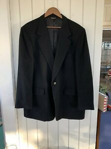 Vintage Union Made 100% Camel Hair Sport Coat/Blazer Navy Made USA