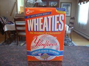 Yankees 1996 AL Champs Wheaties box