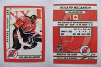 2015 SCA Roland Melanson New Jersey Devils goalie never issued produced #d/10