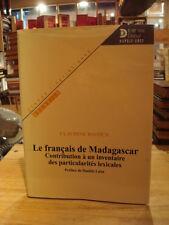 Claudine Bavoux Le Français de Madagascar Inventaire des particularités 2000
