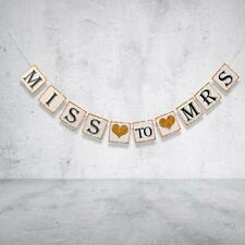 HEN PARTY Banner MISS TO MRS Celebration Bachelorette Party Hen Do Decor