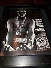 Issac Hayes Movement Rare Original Promo Poster Ad Framed!