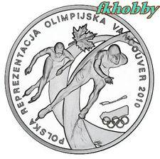 Poland 2010 silver 10 zl Vancouver Olimpiada Olympiade Olympics Sport