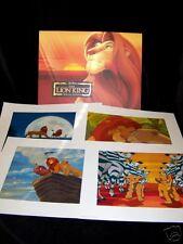COLLECTIBLE  EDITION LION KING 4  LITHOGRAPH PORTFOLIO