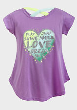 GIRLS T- SHIRT DANCE SHORT SLEEVED TOP SIZE 4-16 YRS