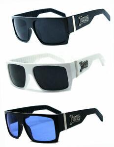 Locs Mens Cholo Biker Sunglasses Flat Top Style - LC74 Assorted