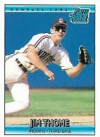 Jim Thome 1991-92 Donruss Rated Rookie Cleveland Indians RC Card #406 - Phillies