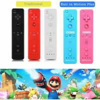 New Built in Motion Plus Remote Wii Controller + Case for Nintendo Wii / Wii U