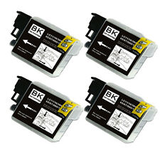 4 BLACK Ink Cartridge Compatible for Brother LC61 MFC J220 J265W J270W