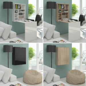 Folding desk HIDE wall-mounted hanging in high gloss fronts office & youth room