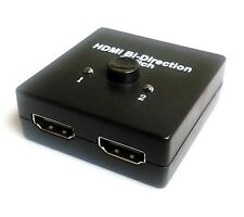 1x2 HDMI Splitter Bi-Directional Switcher Support 1 in 2 out or 2 in 1 out V1.4