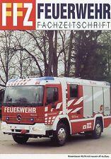 Prospekt Rosenbauer RLFA mit AT Aufbau Sonderdruck FFZ 2002 Feuerwehr fire truck