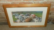 Home Interiors picture Football Equipment 18X12 Signed Sabrina Grey