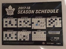 2017-18 TORONTO MAPLE LEAFS MAGNET MAGNETIC SCHEDULE