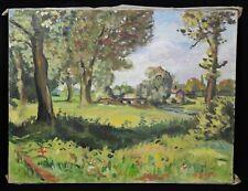 Antique Oil on Canvas 50 X 65 CM Representative Un Landscape Signature