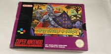 * Super Nintendo * Super Ghouls 'n Ghosts * FAH * SNES * Boxed *